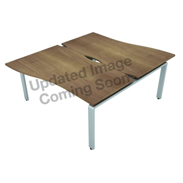 AURABENCH SHALLOW WAVE OFFICE DESK - SET OF TWO
