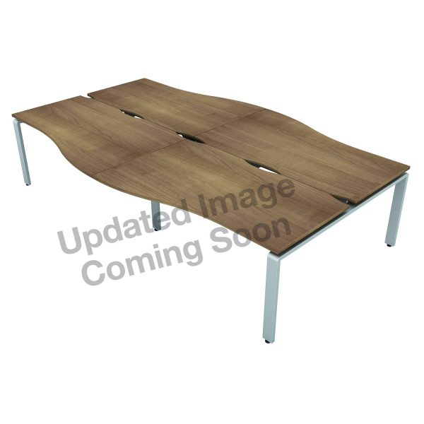 AURABENCH SHALLOW WAVE OFFICE DESK - SET OF FOUR