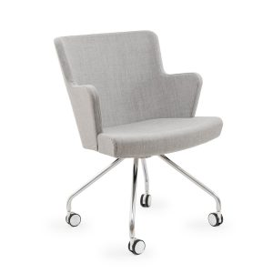 HEYDON FULLY UPHOLSTERED OFFICE CHAIR (NO ARMS)