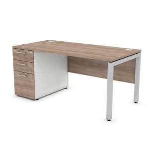 DUTY RECTANGULAR PEDESTAL SUPPORTING FRAME OFFICE DESK