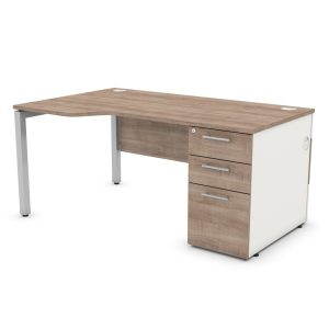 DUTY WAVE PEDESTAL SUPPORTING FRAME OFFICE DESK