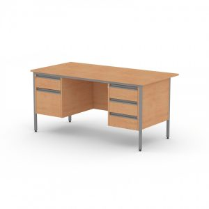 GALAXY RECTANGULAR DOUBLE PEDESTAL OFFICE DESK