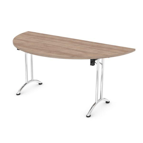 FOLDING SEMI-CIRCULAR OFFICE TABLE