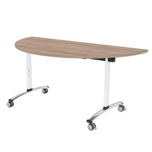 TILT TOP SEMI-CIRCULAR OFFICE TABLE